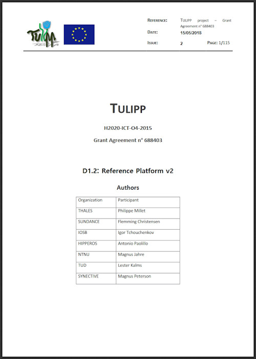 WP 1 Reference Platform Definition v2