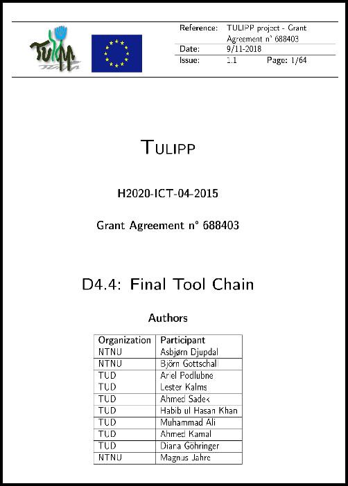 D4.4: Final Tool Chain